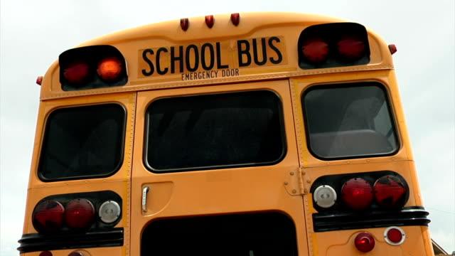 School Bus Back Lights Flashing video