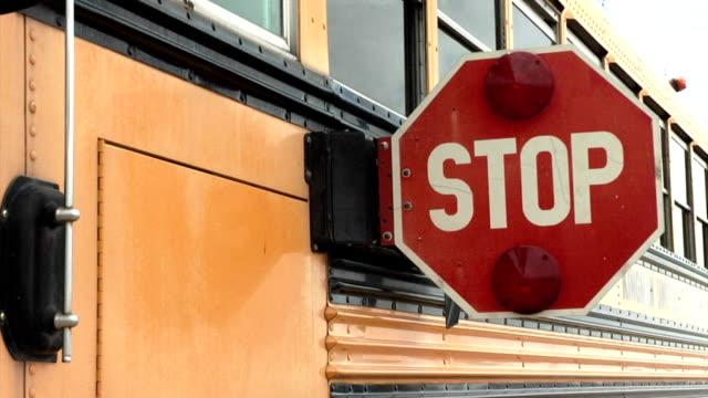 School Bus Stop Sign Going In video