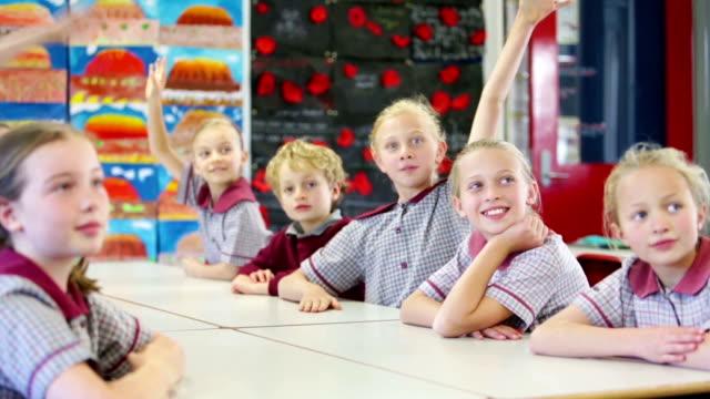School Children in the Classroom video