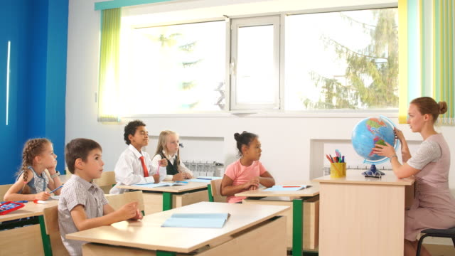 school children participating actively in class. Education, learning, high school Classmate Educate Friend Knowledge Lesson learning Concept test results stock videos & royalty-free footage