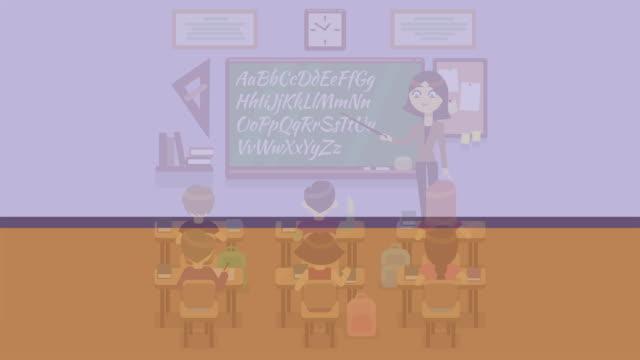 生徒のアニメーション学校クラス ビデオ