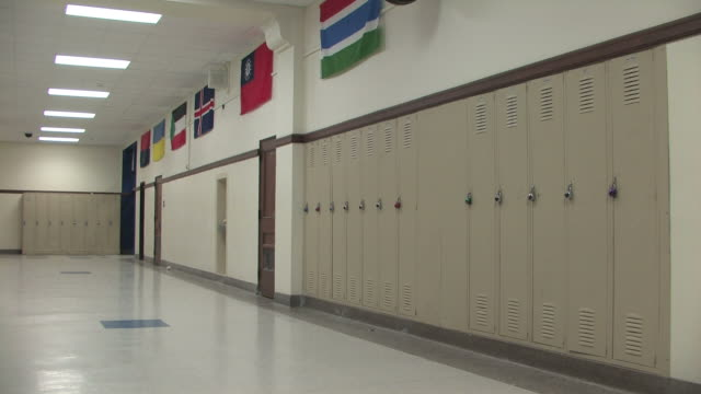 School Hallway Pan video