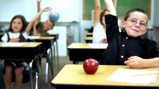 School students raise hands video