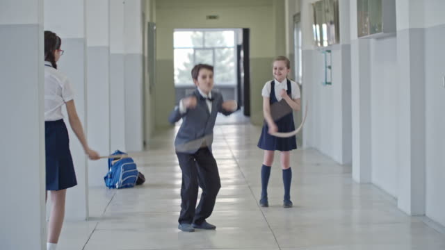 Schoolboy Jumping the Rope video