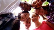 istock Schoolkids forming huddle in school premises 4k 881702522