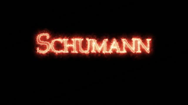 vídeos de stock e filmes b-roll de schumann written with fire. loop - compositor