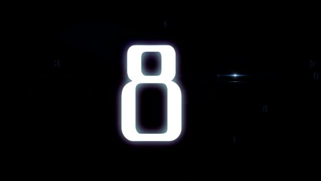 Sci Fi timer countdown video