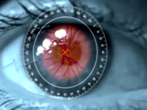 vidéos et rushes de science-fiction eye rétine scanner - rétine