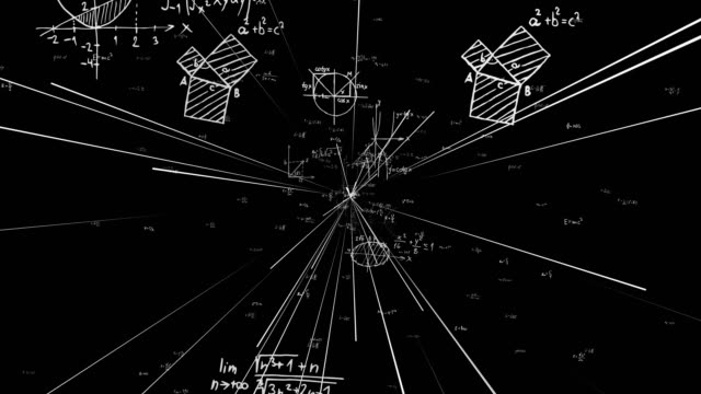 science, math, chemistry equations - semplicità video stock e b–roll