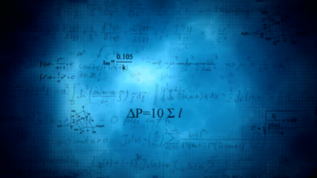 Scientific background with different formulas video