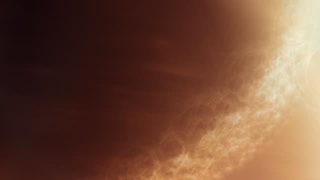 Wissenschaftliche oder abstrakt Hintergrund video. Sun Oberfläche Brennen Fraktal Flamme – Video