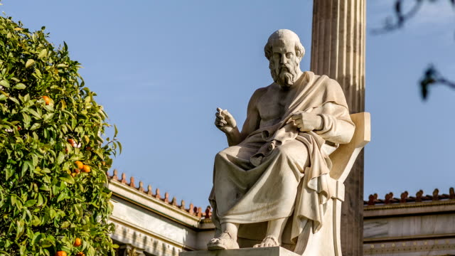 Scientist and Philosopher Plato Marble statue of the great ancient Greek scholar Plato Time Lapse statue stock videos & royalty-free footage