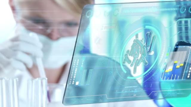 Naukowiec klasyfikacji próbki w laboratorium – film