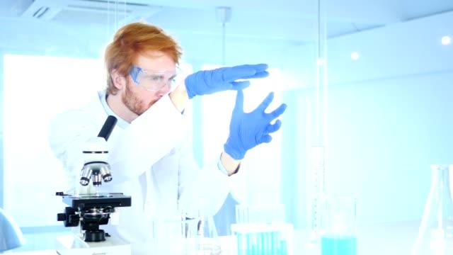 Scientist  imaginating New idea in Laboratory, Research Work video