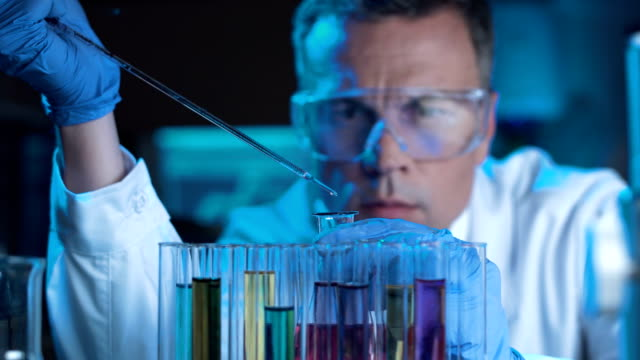 Scientist or technologist doing a laboratory test video
