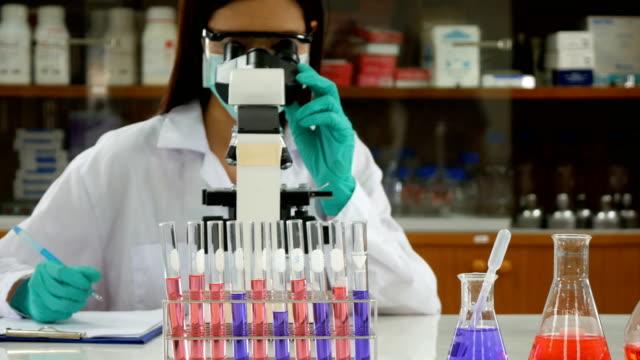 vídeos y material grabado en eventos de stock de científico trabajando en laboratorio - investigación científica