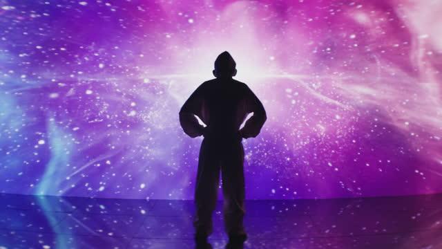 Scientist's space trip inside laboratory