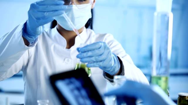 vidéos et rushes de les scientifiques avec tablette numérique et x soleil. - science et technologie