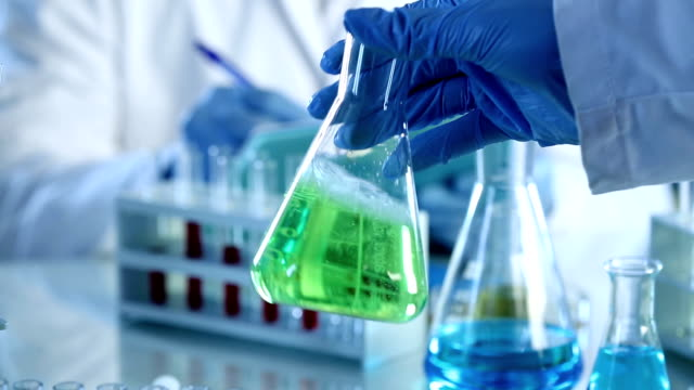 Scientists working at the laboratory. video