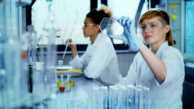 scientists working in a research laboratory - bio tech stock videos and b-roll footage