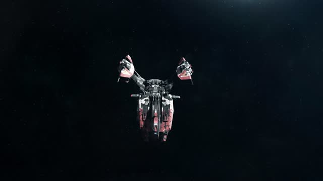 Sci-Fi Battleship Approaching video
