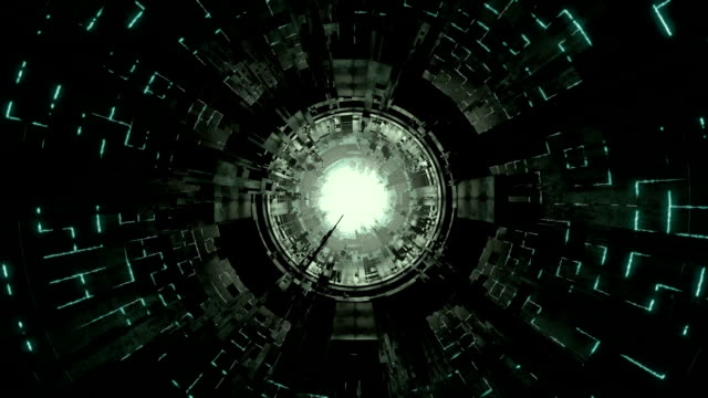Sci-fi Futuristic Tunnel video