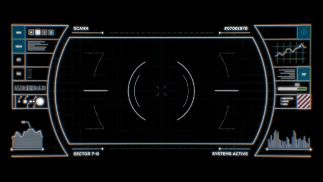 Sci-Fi HUD for VFX Compositing video