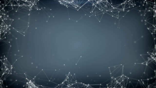 Sci-fi network shape rendered with DOF seamless loop animation video
