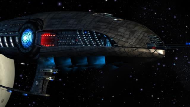 sci-fi statek kosmiczny - badawczy statek kosmiczny filmów i materiałów b-roll