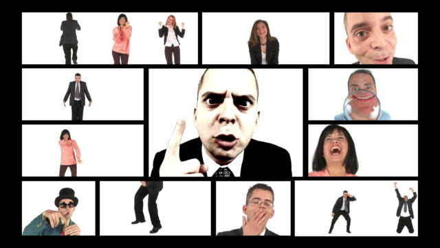 HD MONTAGE: Scolding Businessman video