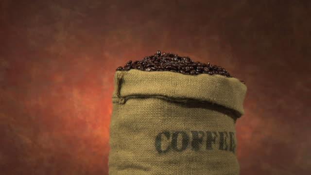 Scoop of coffee beans video