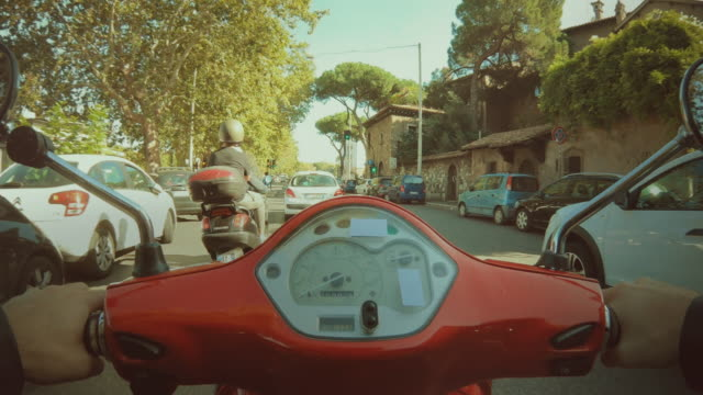 POV scooter riding: hyper lapse in the center of Rome POV scooter riding: on the motorbike in the city of Rome action movie stock videos & royalty-free footage