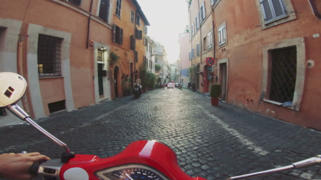POV scooter riding: on the motorbike in the city of Rome POV scooter riding: on the motorbike in the city of Rome action movie stock videos & royalty-free footage
