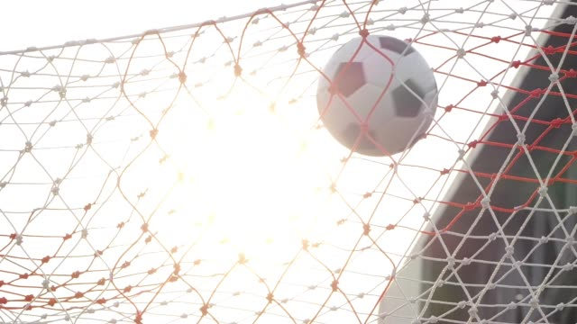 GOAL scored with Soccer ball GOAL scored with Soccer ball scoring a goal stock videos & royalty-free footage