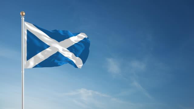 Scotland Flag - Loopable video