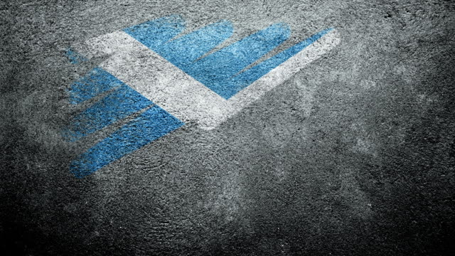 Scotland Flag Painted on Wall. Vote. video