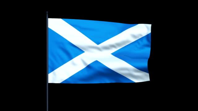 Scotland Flag Waving, Seamless Loop video