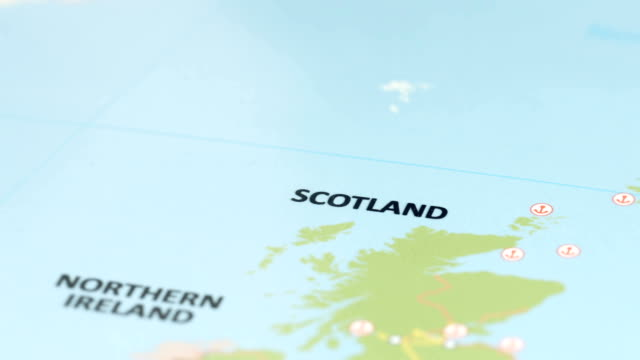 Europe Scotland On World Map Stock Video More Clips Of 4k