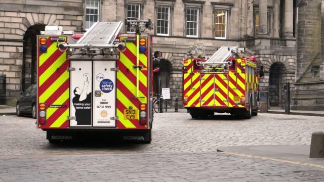 vídeos y material grabado en eventos de stock de bomberos de escocia edimburgo, reino unido, 23 de mayo de 2018 4 k 10 bit - brigada