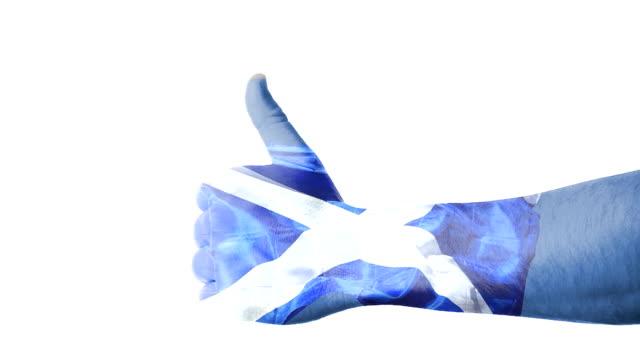 Scottish flag thumbs up video