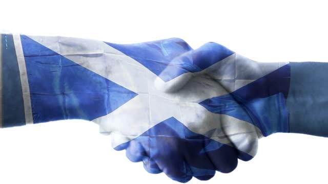Scottish flag with handshake video