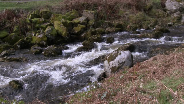 Scottish river in Dumfries and Galloway south west Scotland 4K footage shot at 59.94fps and interpreted to 23.976 to give slow motion galloway scotland stock videos & royalty-free footage