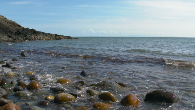 Scottish rocky beach in Dumfries and Galloway during summer Scottish rocky beach in Dumfries and Galloway during summer dumfries and galloway stock videos & royalty-free footage