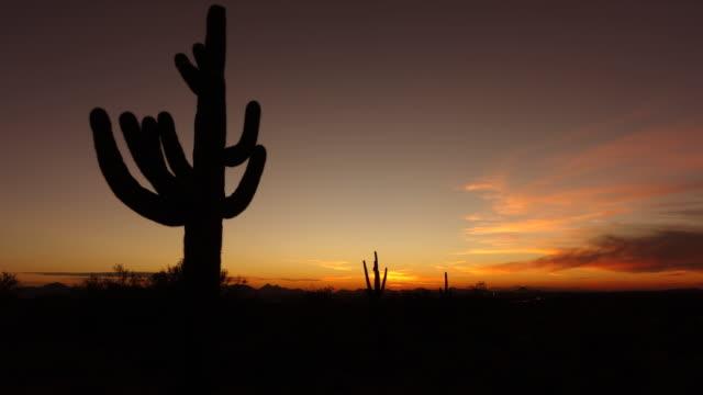 Scottsdale, Arizona,Desert Sunset to Night timelapse