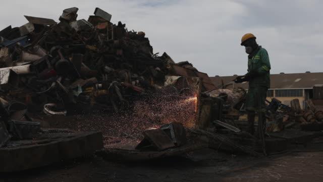 Scrap metal recycling facility.