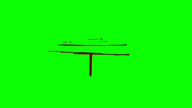Scratch Wound Bleeding on a Green Screen Background video