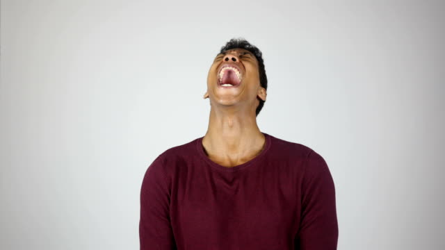 Screaming in Pain or Anger, Young Man Gesture video