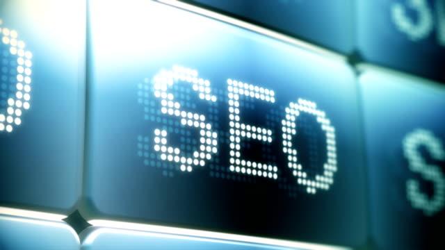 SEO (Search Engine Optimization) Screen Animation