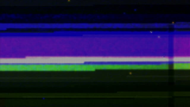 screen glitches - digital and analogue television or monitor interference - telecomando background video stock e b–roll