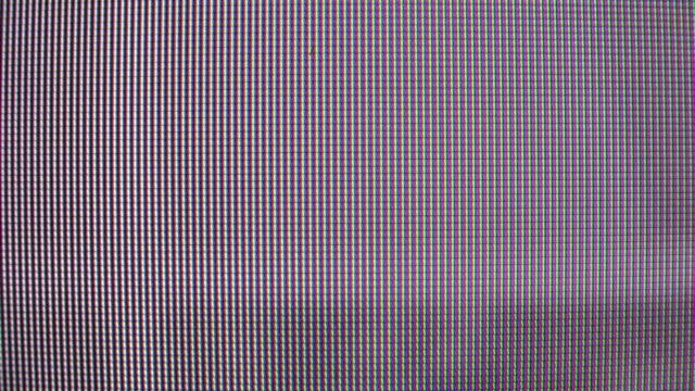 TV screen macro video